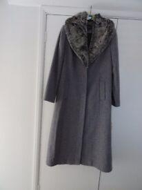 Full length grey Alexon winter coat size 14