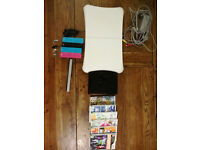 Nintendo Wii Console Bundle Black with Games and Wii Fit Board