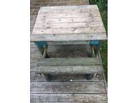 TP wooden sandpit table & bench