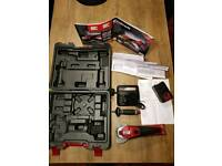 Einhell cordless angle Grinder, new unused with battery and charger, receipt and manuals