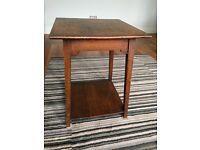 Arts and crafts mahogany side table