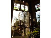 5 Lamp Chandelier Ceiling Pendant Light Crystals Dining Living Room Hallway