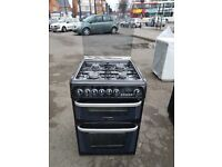 HOTPOINT CH60DHKFS 60cm DUAL FUEL DOUBLE OVEN COOKER -BLACK