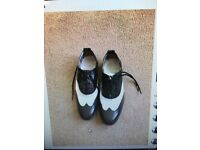 Ladies Fred Perry Black & White Brogues- size 5
