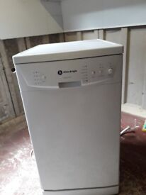 Slimline dish washer h 85cm w.45cm d 57cm excelent condition two years old little use
