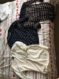 3x H&M maternity tops, size small