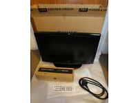 22 INCH FLAT SCREEN TV (BOXED COMPLETE) USED VERY LIGHTLY IN SPARE ROOM