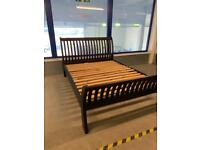 Solid wood King size Sleigh bed frame