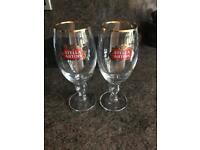 Stella Artois glasses excellent condition