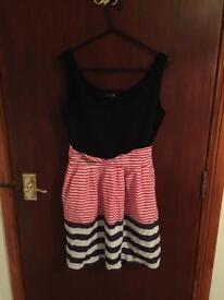 Striped dress size medium/large