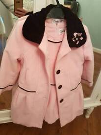 Girls party / christmas dress and coat age 3-4 years