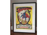 framed SUPERMAN print