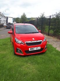 01/2018 PEUGEOT 108 ALLURE 1.2 PETROL (only 1743 mileage)