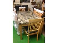 Marble top dining table £180