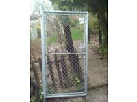 heavy duty chain mail link gate with lock and keys