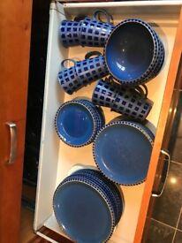 Blue denby dinner set