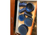 Blue denby dinner set