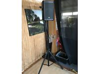 Tall Free standing pair of speakers