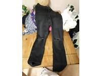 Girls New look skinny jeans and shorts