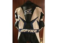 Spyke motorbike one piece leather suit