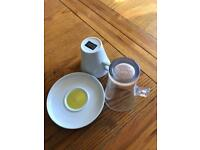 Dolce gusto cup and saucer with glass