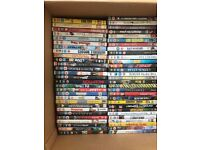 Selection of over 100 DVDs