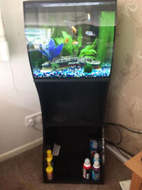 Fluval Flex 57L Aquarium Stand (Black) - Only used for one month - Near Ferndown