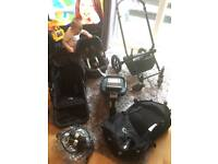 Bugaboo chameleon pushchair travel system with maxi cosi pebble