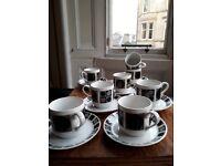 8 x Espresso cups - mid century design