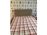 Double divan bed, headboard and mattress for sale
