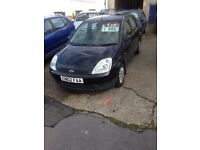 2002 Ford Fiesta Style with Air Con, 5 door in Black, MOT till 13th October 2017!