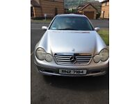 Merc c180 coupe kompressor petrol manual mot until Jan 2018 great car to drive excellent condition .