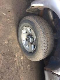 mitsubishi l200 alloy wheels 265/70/16 tyres