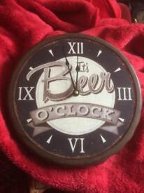 'It's Beer O'Clock' wall clock
