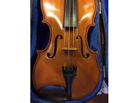 Full size violin for sale, with case, bow and chin rest