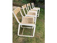 4 x designer kitchen chairs (D-Chair Slat White)