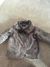 Girls autograph fluffy coat with bow, autograph, 1 1/2 - 2 years