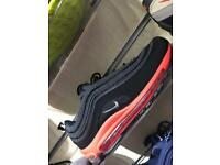 Nike air max 97 blk/hyp red (6-11)