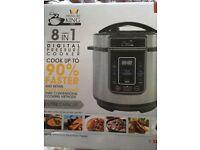 Pressure King 3 litre digital pressure cooker 90% faster