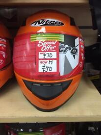 Orange Nitro Motorcycle Helmet