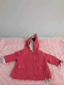 Gorgeous baby girls baby baker coat