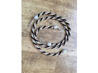 Black and gold twisted rope curtain tie backs