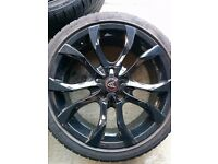 Alloys with tyres 18 astra