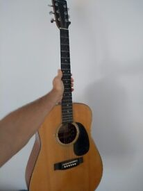 Lorenzo Acoustic Guitar - 3/4 size (more portable than most)
