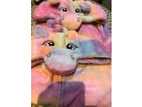 2 x Adult size unicorn onesies - worn once