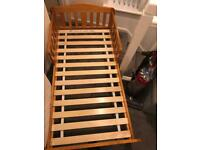 Mothercare pine toddler bed complete with mattress