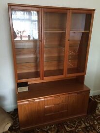 Stylish teak display cabinet in superb condition.