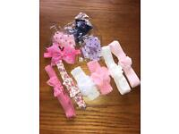 Girl's hair bands with bows and flowers