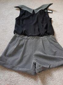 Brand new labelled izabel london black playsuit size 12