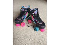 Roller quad skates, excellent condition, size 4